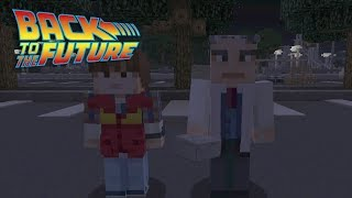 Minecraft Back To The Future: First Time Travel Scene Recreation