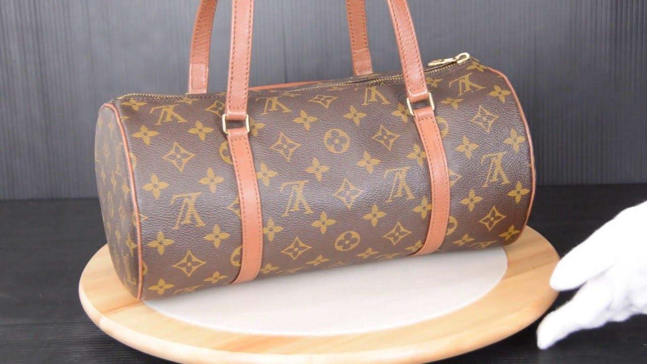 ilovekwaii C01450 - Louis Vuitton Monogram Papillon 30 with Mini Papillon  Hand Bag M51365 32e742976eb95
