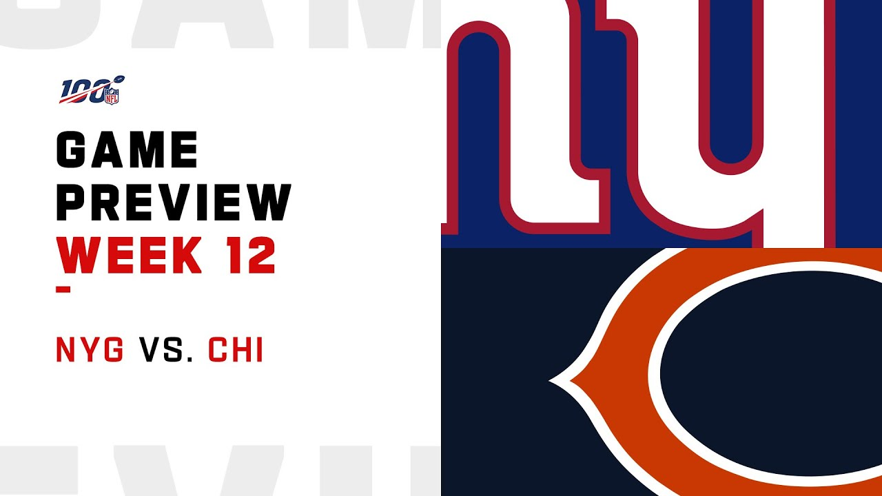 New York Giants vs Chicago Bears Week 12 NFL Game Preview