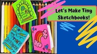 How to Make a Smąll Sketchbook!