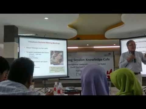 @KMSIndonesia Sharing: Knowledge Cafe By @DavidGurteen
