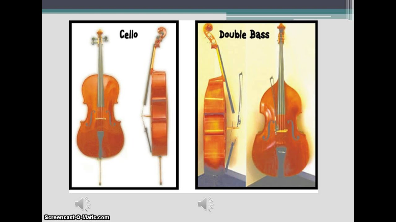 cello and double bass screencast - YouTube