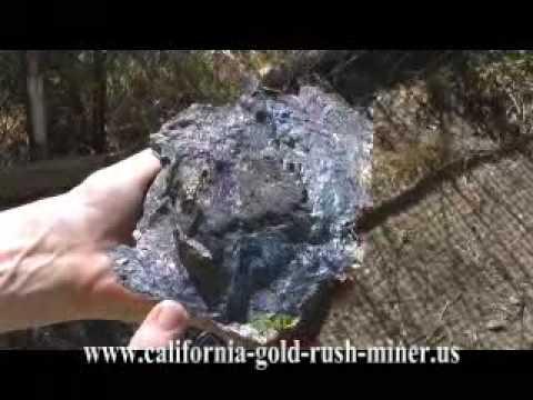 Silver Nugget - Silver Vein in Peacock Ore