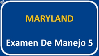 Examen De Manejo De Maryland 5