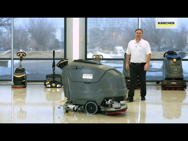 BD 80100 Walk Behind Scrubber Features and Benefits