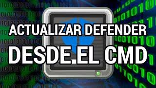 Cómo actualizar Windows Defender desde el CMD www.informaticovitoria.com