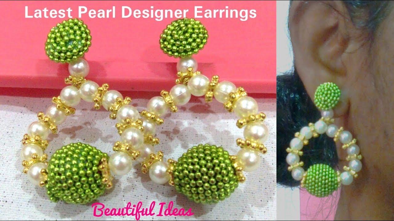 DIY/How to Make Silk thread Designer Pearl Earrings/Hangings ...