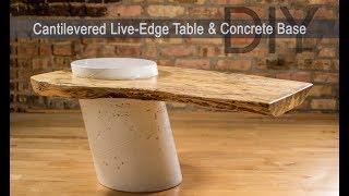 Baixar DIY Live Edge Table w/ White Concrete Base || How to Make