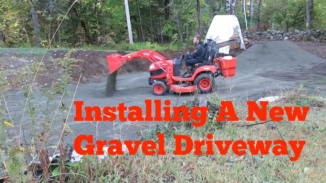 Installing A New Gravel Driveway At Lumnah Acres