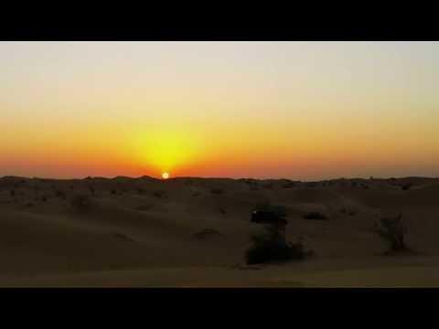 Dubai Desert Sunset Gopro 4K