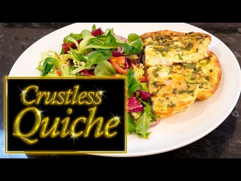 Crustless Quiche, ham and cheese, low carb