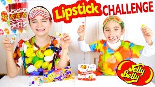 JELLY BELLY LIPSTICK CHALLENGE avec des Baumes à Lèvres Bonbons :)