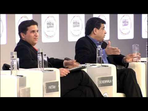 Ronnie Screwvala, UTV Group talks with Hassan Fattah, The National, Abu Dhabi Media Summit 2011