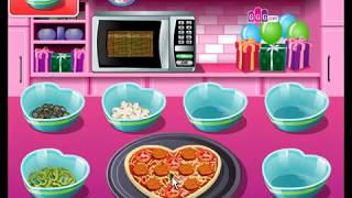 Мультик. Прохождение игры. Кухня Сары. Пицца На День Святого Валентина. Подборка.  Игры мультики.