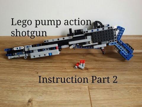 lego pump action shotgun instructions part 2 youtube rh youtube com