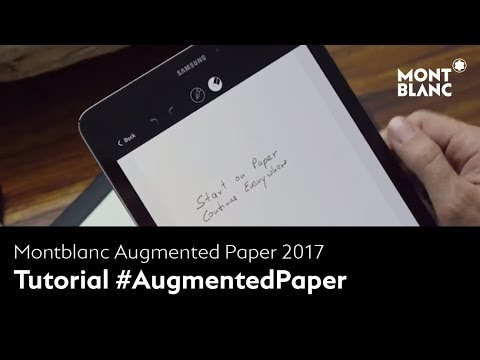 How to use Montblanc Augmented Paper