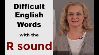 How to Pronounce Difficult English Words with R |Accurate English