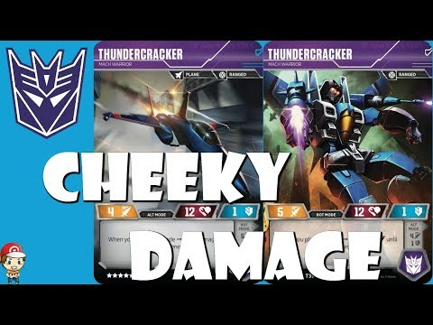 Thundercracker HATES Melee Characters in the Transformers TCG