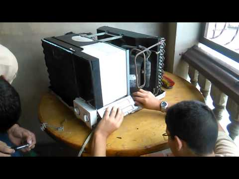 Mantenimiento completo a aire acondicionado tipo ventan for Cargar aire acondicionado casa