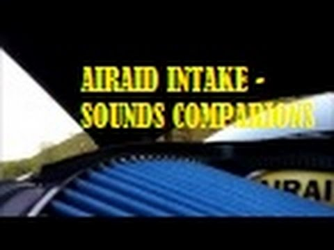 Airaid Intake CAI - Dodge Challenger - Stock vs Cold Air Intake SOUNDS!