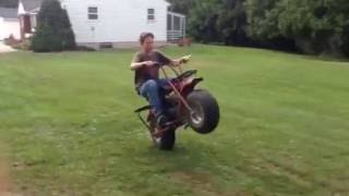 Mini bike wheelies!