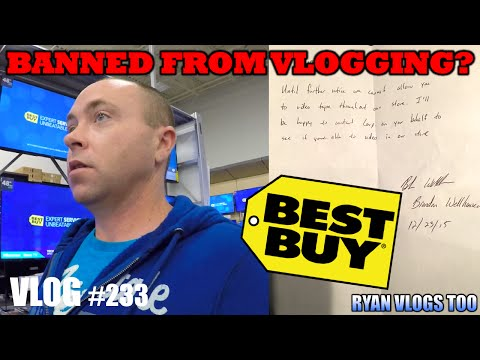 I Was BANNED From Vlogging At Best Buy While Christmas Shopping! (Vlog #233)