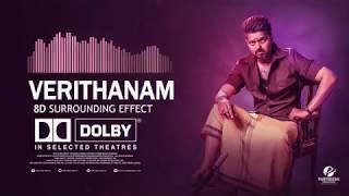 Verithanam 8D Song  Dolby 7.1 CH Surrounding  Bigil Vijay Song   Partheesh Creations