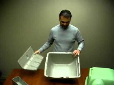 How To Assemble The Omega Paw Self Cleaning Litter Box