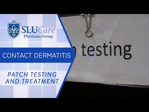 Patch Testing and Treatment for Contact Dermatitis - SLUCare Dermatology