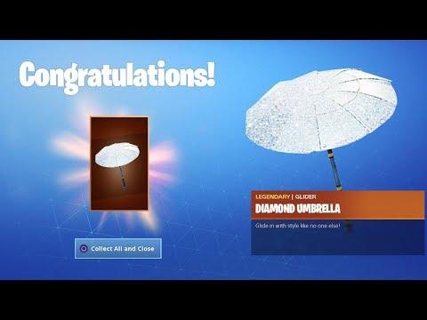 How to Unlock FREE DIAMOND UMBRELLA in Fortnite...