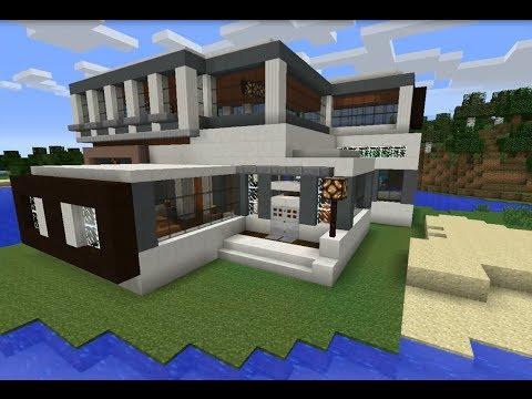 Minecraft vamos a construir casa moderna 20x20 1 doovi for Como hacer una casa moderna y grande en minecraft 1 5 2