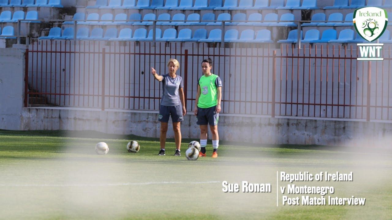 Sue Ronan post match interview Republic of Ireland v Montenegro