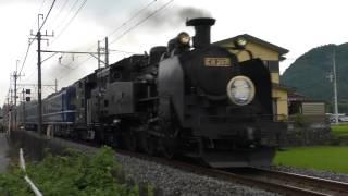 "警笛あり・東武鉄道SL大樹試運転通過/Steam train ""Taiju""  made test run/2017.07.16"