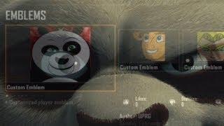 Black Ops 2 Kung Fu Panda Emblem Tutorial (PO PING)