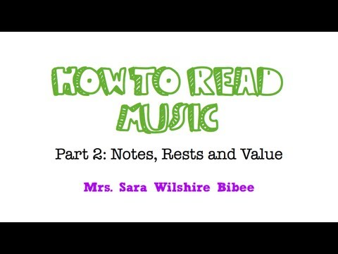 How to Read Music- Notes, Rests and Values