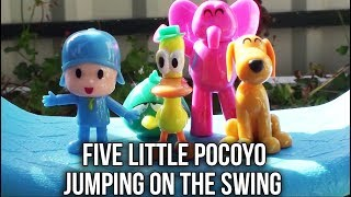 Five Little Pocoyo Jumping On the Swing | Five Little Monkeys Jumping on the Bed Nursery Rhyme