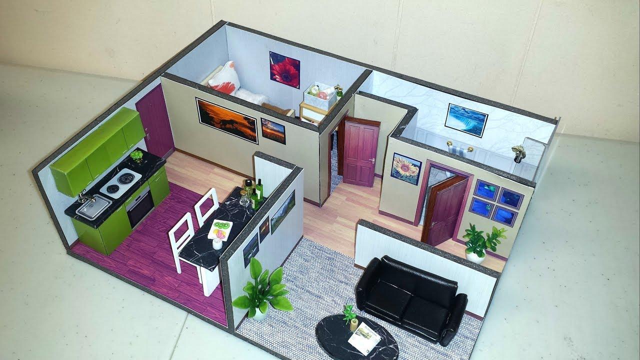 Diy miniature dollhouse apartment 3