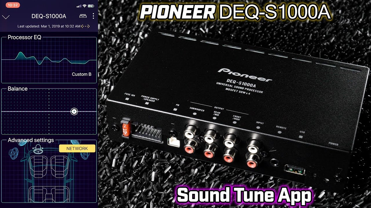 pioneer deq s1000a dsp and sound tune app [ 1280 x 720 Pixel ]