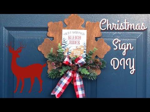 Dollar Tree Christmas  DIY   Wood Snowflake Sign