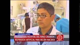 Médicos del Hospital del niño crearon respirador artificial para recién nacidos