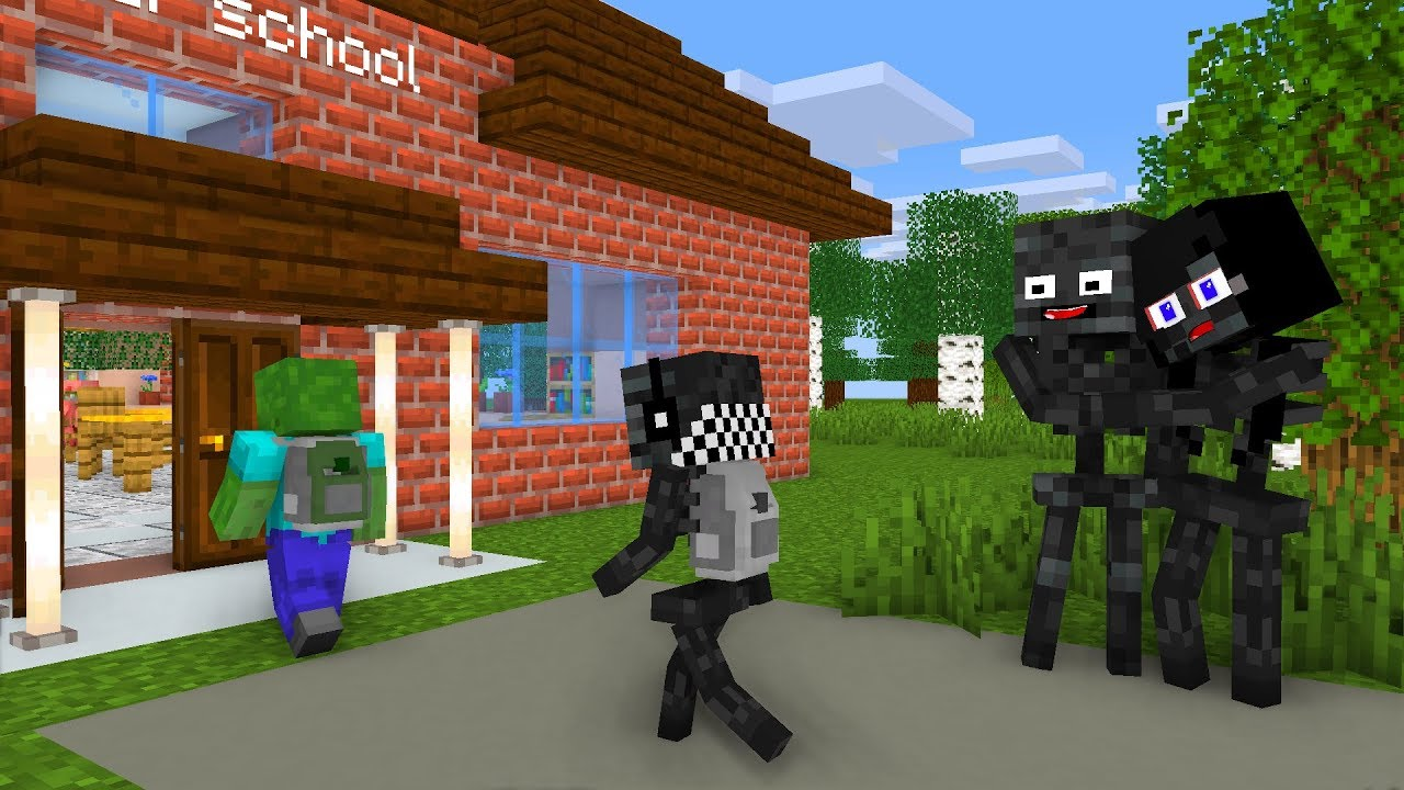 Monster School : WITHER SKELETON LIFE STORY - Minecraft Animation