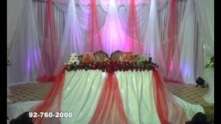 Оформление стола жениха и невесты. Оформление цветами и тканью в Худжанде