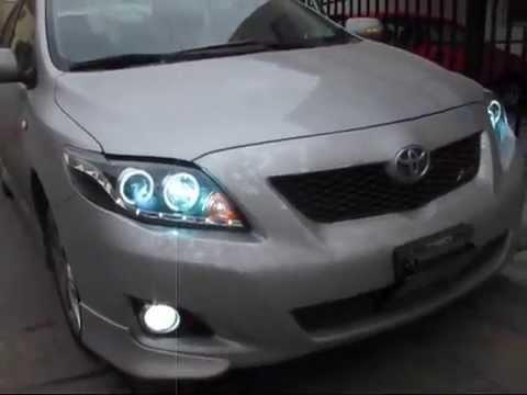 Toyota Corolla 2009 2010 Faros Ojo De 225 Ngel Youtube