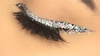 Delineado Dramático Con Glitter
