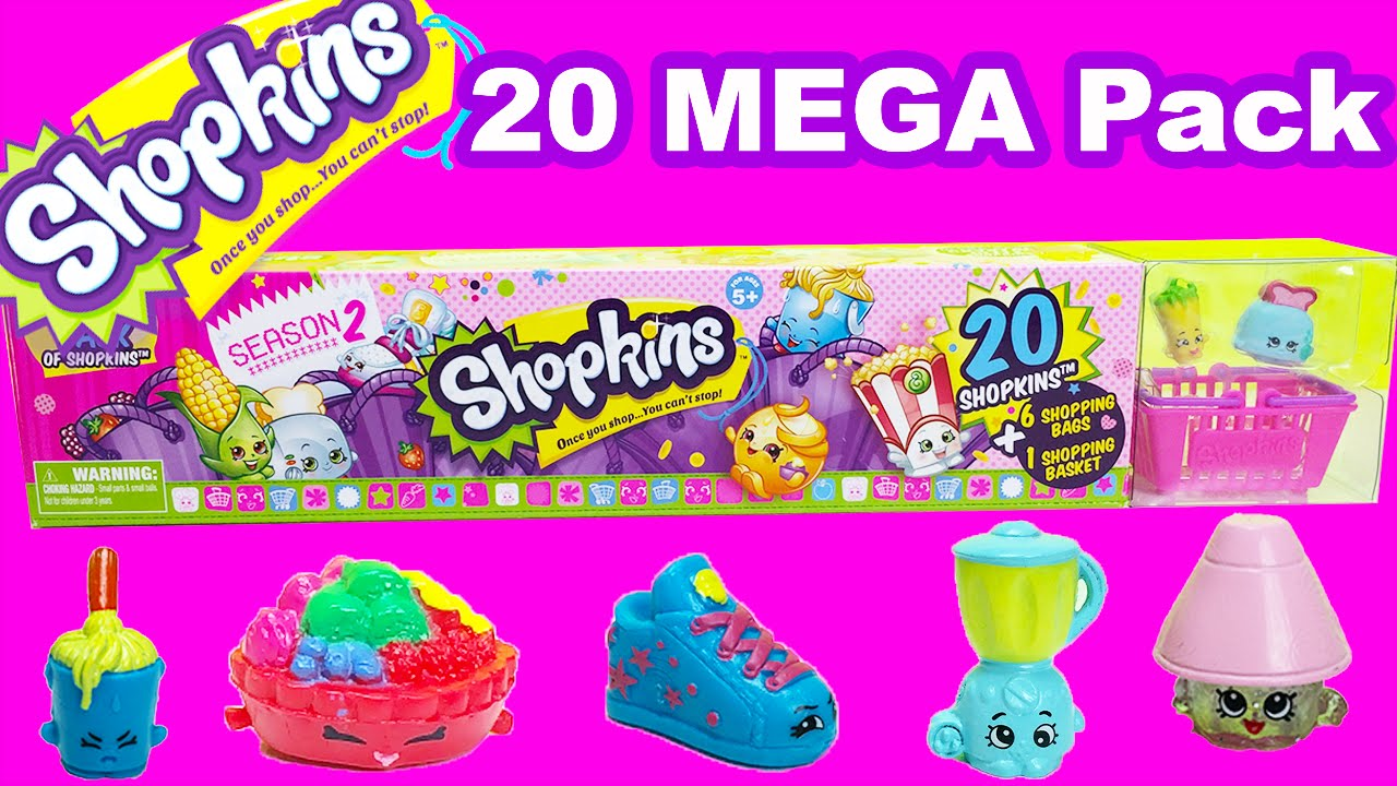 20 MEGA Pack SHOPKINS Season 2