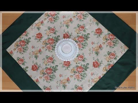 gro mutter k thes n hstunde patchwork tischdecke mit breitem rand evtl wendetischdecke youtube. Black Bedroom Furniture Sets. Home Design Ideas