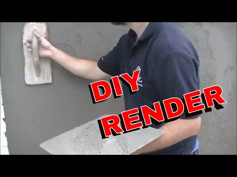 HOW I FINISH MY RENDER  SMOOTH SAND AND CEMENT GUIDE AND TIPS DEMO DIY