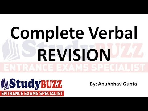 Complete verbal revision for CAT, XAT, IIFT- Master all verbal topics