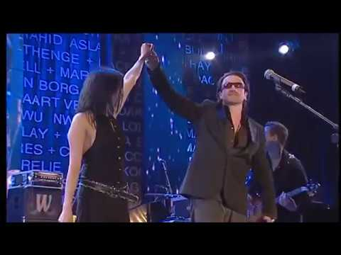 The Corrs, Bono /U2/- When the Stars Go Blue, concert Live 8, Edinburgh, Scotland, UK, 6.7.2005