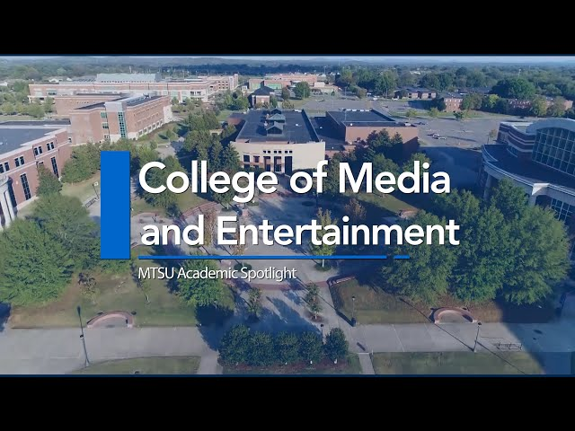 Academic Spotlight | College of Media and Entertainment